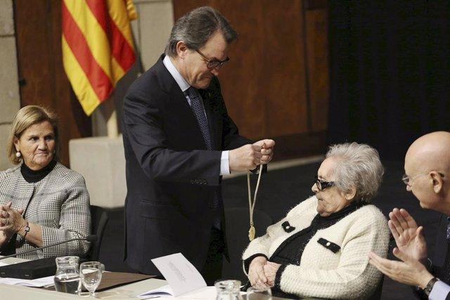 Núria de Gispert, Artur Mas i Neus Català