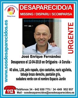 Buscan a un vecino de Ortigueira (A Coruña), de 40 años, desaparecido desde este viernes
