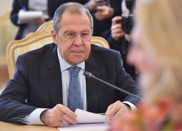 Russia\'s Lavrov meets Austria\'s Karin Kneissl