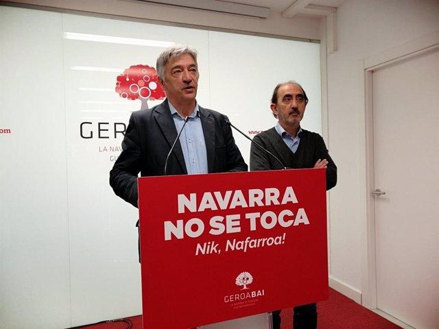 """28A.- Geroa Bai reclama la transferencia a Navarra de la competencia de tráfico y critica """"el incumplimiento del PSOE"""""""