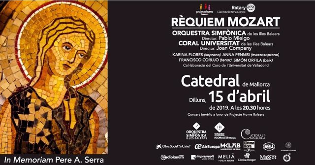 La Catedral acoge este lunes el concierto benéfico 'Rèquiem Mozart' cuya recauda