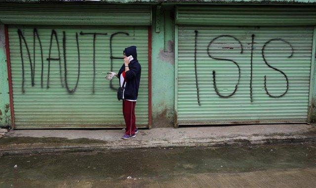 Pintada del Grupo Maute y Estado Islámico en Marawi