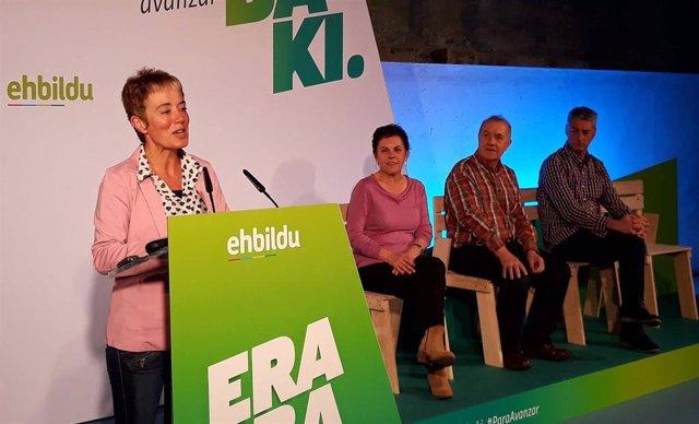 """28A.- Bel Pozueta (EH Bildu) afirma que llevará al Congreso """"el empuje de la Navarra feminista"""""""