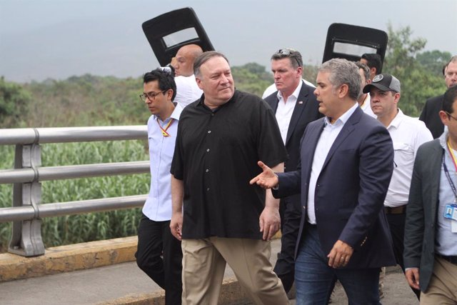 US Secretary of State Mike Pompeo in Colombia