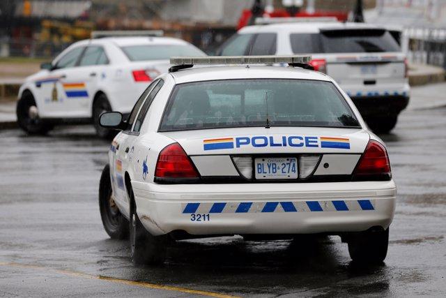 Vehículos de la Royal Canadian Mounted Police en Ottawa, capital de Canadá