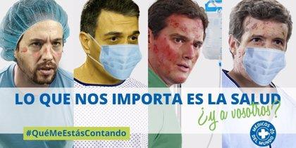 """Médicos del Mundo pide a Sánchez, Casado, Iglesias y Rivera que """"no se olviden de lo que importa: la sanidad"""""""