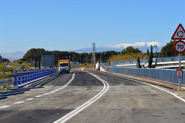 Abierto al tráfico el puente de la carretera Tudela-Tarazona