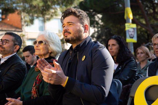 Mitin de ERC con Gabriel Rufián, Carolina Telechea y Joan Josep Nuet en Sabadell