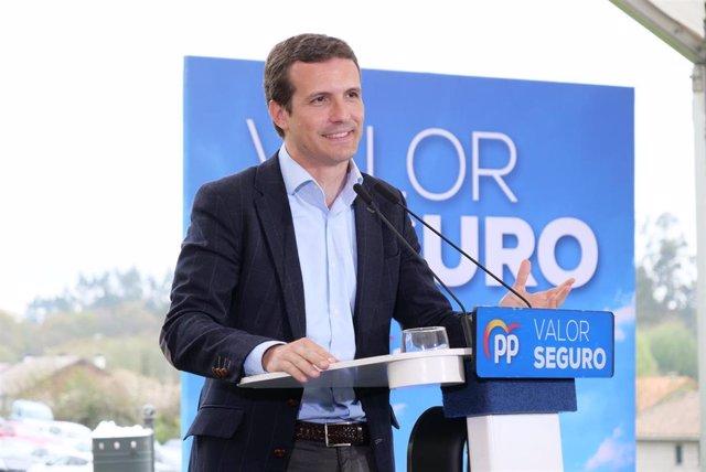 28A.- Casado expone un decálogo de prioridades en su carta electoral y pide unir el voto en el PP para echar a Sánchez