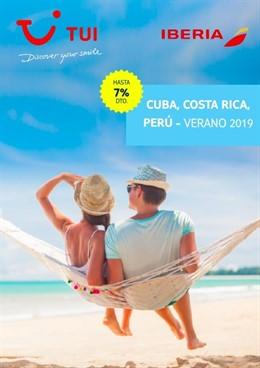 TUI e Iberia lanzan una campaña  de salidas garantizadas en Cuba, Costa Rica y Perú con descuentos de hasta el 7%