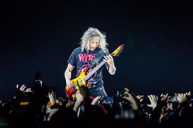 Kirk Hammett de Metallica en Madrid