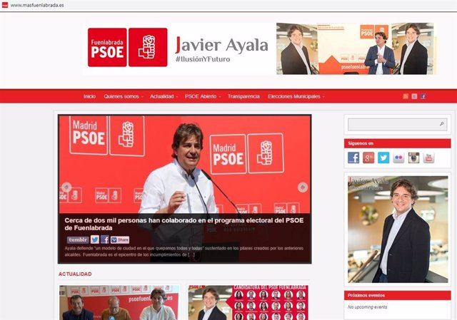 26M.- Más Madrid Denuncia A La Junta Electoral Al PSOE Por Utilizar La Web 'Masfuenlabrada.Es'