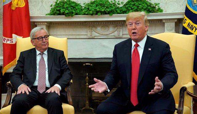 Trump se reúne con el  presidente de la Comisión Europea, Jean-Claude Juncker