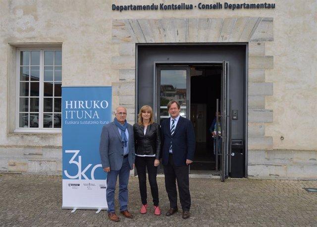 Hizkuntza politikan lankidetzan jarraituko dute Jaurlaritzak, Nafarroako Gobernuak eta Euskararen Erakunde Publikoak