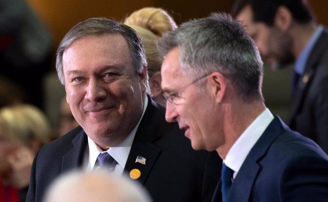 """OTAN.- Pompeo exige a los aliados de la OTAN que se ahorren las """"excusas"""" sobre el gasto en defensa"""
