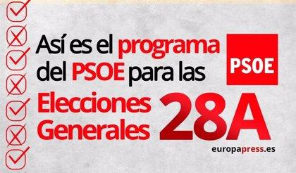 Elecciones 2019: Este es el programa electoral del PSOE para el 28A