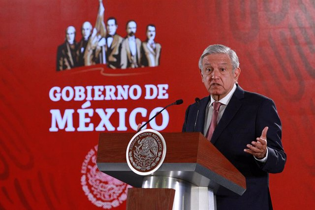 Obrador daily press conference in Mexico City
