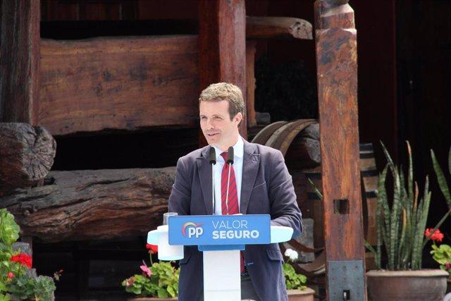 """Casado promete """"recuperar la libertad"""" en Cataluña y Euskadi con """"los efectivos que hagan falta para cumplir ley"""""""