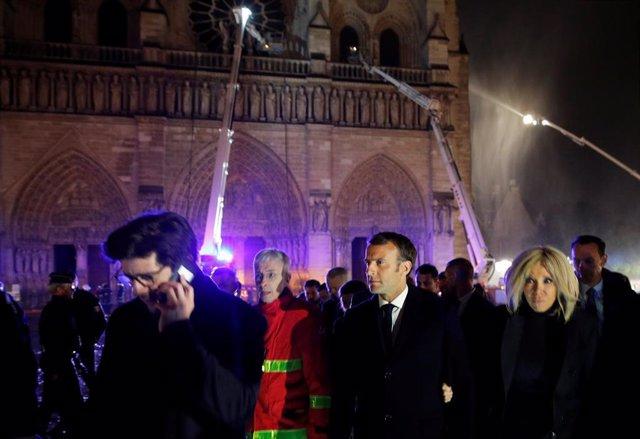 """Francia.- Macron sobre el incendio: """"Reconstruiremos todos juntos Notre Dame, es nuestra historia"""""""