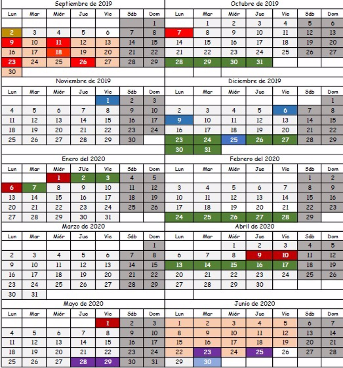 Calendario 2019 Escolar 2020 Madrid.Publicado El Calendario Escolar Para El Curso 2019 2020