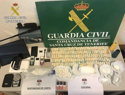 Diez detenidos por el tráfico de grandes cantidades de droga en Tenerife y Madrid