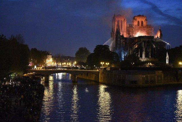 Notre Dame of Paris ablaze