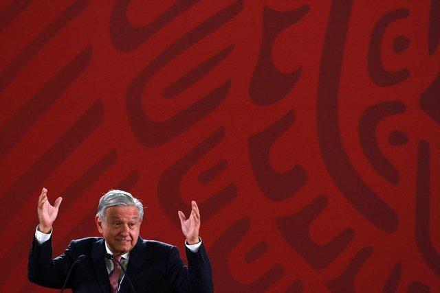 Obrador daily press conference in Mexico City