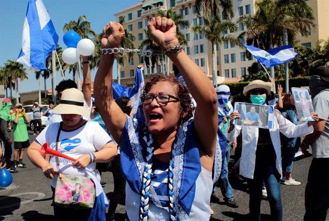 La oposición nicaragüense convoca una marcha con motivo del aniversario del inicio de las protestas