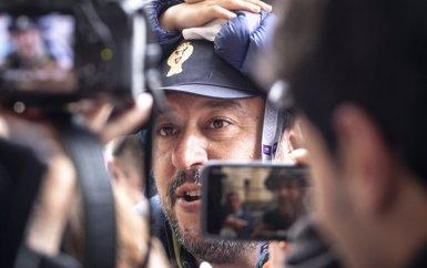 """Salvini diu que la """"infiltració terrorista"""" a través de vaixells amb migrants és una certesa (Carlo Lannutti/Lapresse via ZUMA / DPA)"""