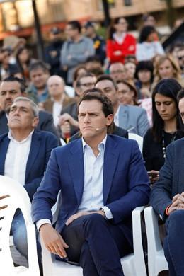 Albert Rivera participa en un acto de campaña de Ciudadanos en Murcia