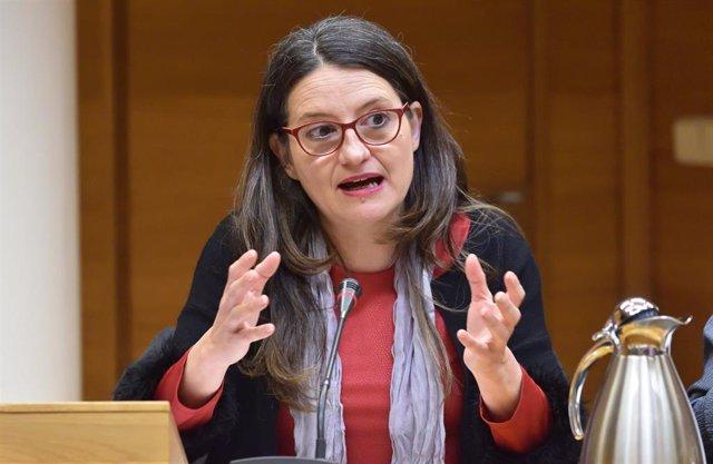 La vicepresidenta Mónica Oltra comparece en la Comisión de Políticas de Igualdad
