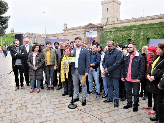 """28A.- Rufián lamenta les crítiques d'Asens a Junqueras: """"Que vagi a la cella i l'hi digui"""""""