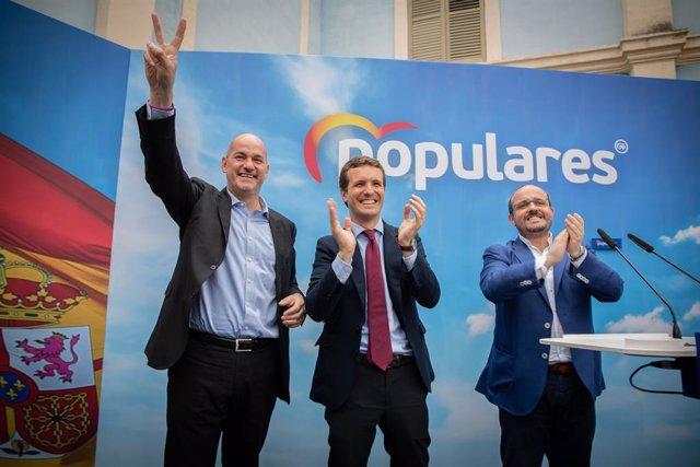 El president nacional del PP, Pablo Casado, visita Tarragona i les installacions d'Air-med a Reus
