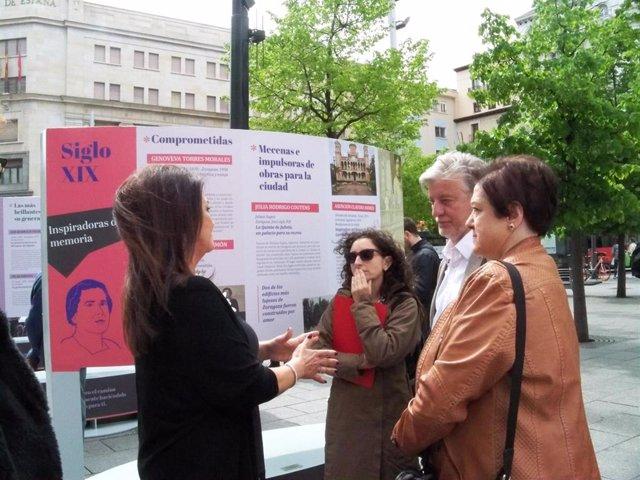 Zaragoza.- La Plaza de España inaugura esta Semana Santa la muestra  'Las imprescindibles en la historia de Zaragoza'