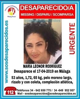 Málaga.- Sucesos.- Buscan a una mujer de 53 años desaparecida en Málaga cuando salió a caminar