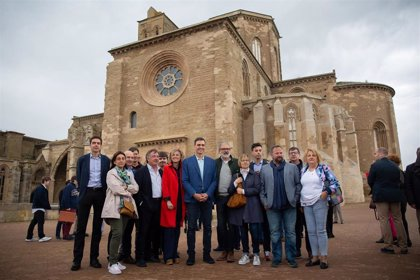 Pedro Sánchez visita la Seu Vella de Lleida y pasea por el centro de la ciudad