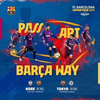 El Barça jugará en Japón contra el Vissel Kobe de Iniesta y ante el Chelsea en la 'Rakuten Cup'
