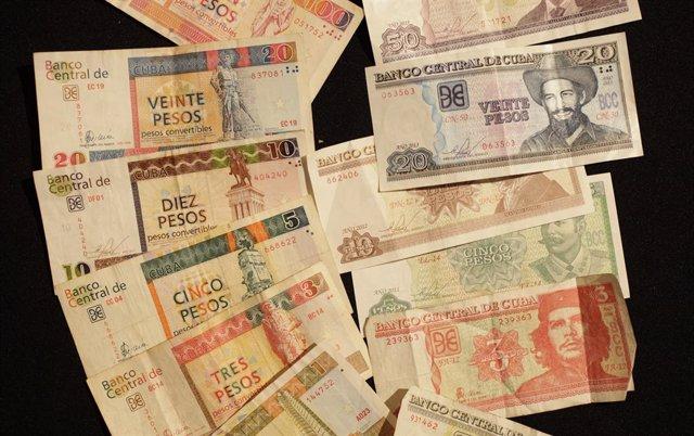 Pesos cubanos y pesos convertibles