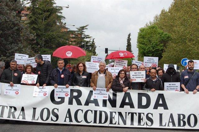 Granada.- Los sindicatos denunciarán ante la Fiscalía el último accidente laboral con un fallecido en Alhendín