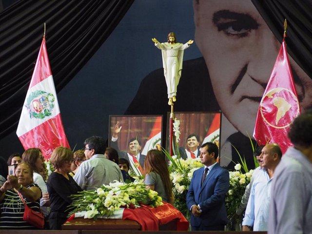 Funeral of Peru\'s ex-president Garcia in Lima