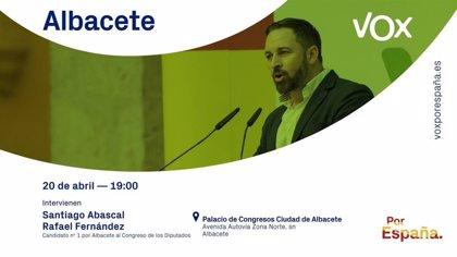 Abascal visita este sábado Albacete junto a Rafael Fernández Lomana