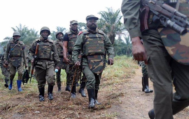 Militares del Ejército de República Democrática del Congo en Kivu Norte