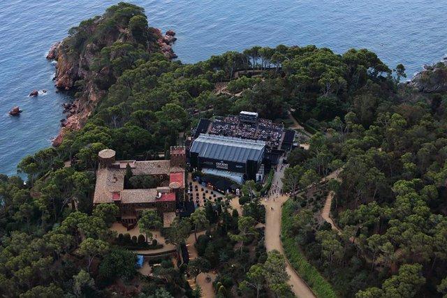 Vista aérea del Festival de Cap Roig