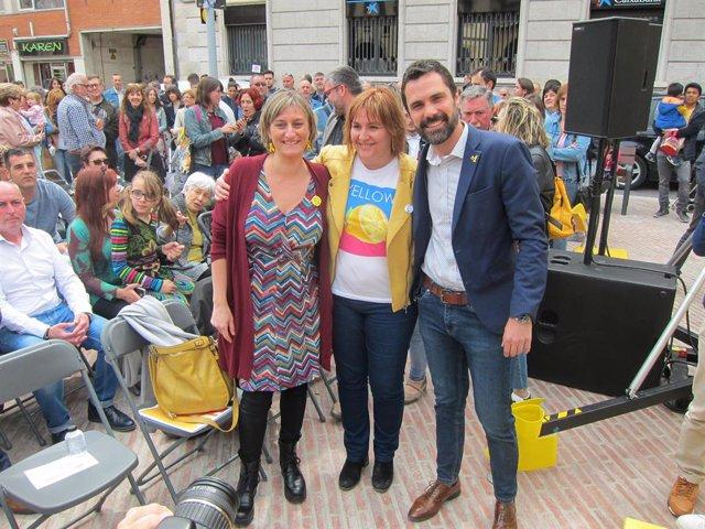 """28A.- ERC Reivindica A Junqueras Després del seu Debut En Campanya: """"Vam veure A Un Gegant Immens"""""""