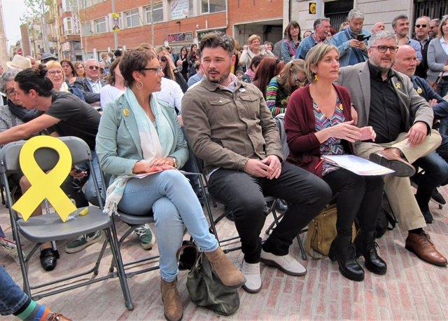 """Av.- 28A.- Rufián demana el vot a ERC per frenar el """"feixisme cool"""" d'un pacte PSOE-Cs"""