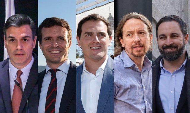 Directo | Sánchez arranca la campaña en Sevilla, mientras Casado, Rivera, Iglesias y Abascal eligen Madrid