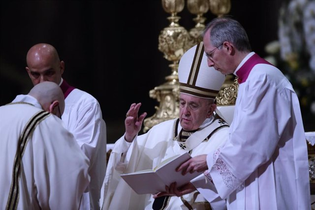 Pope Francis celebrates Easter Vigil Mass in Vatican City
