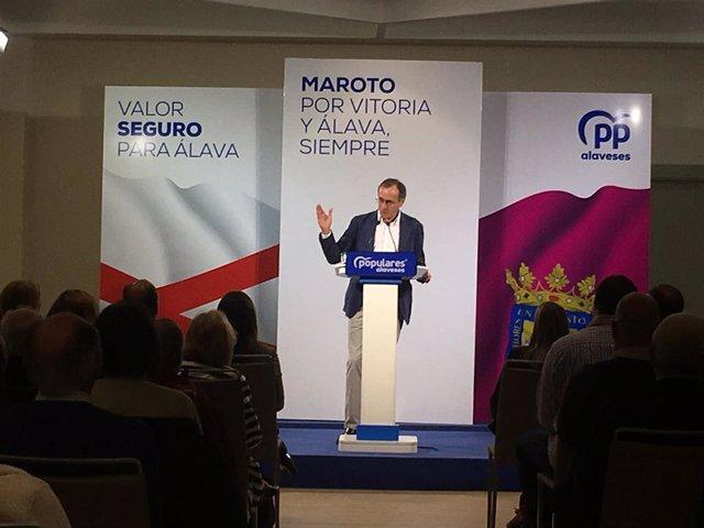 """28A.- Alonso (PP) Dice Que """"El PNV Ve Una Oportunidad En Sánchez Para Volver A Los Tiempos Del Plan Ibarretxe"""""""