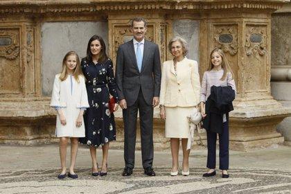La Família Real assisteix a la missa de Pasqua en la Catedral de Palma de Mallorca
