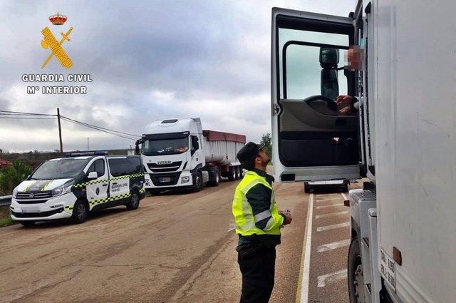 Controles de tráfico en Extremadura